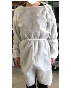Camici Monouso Idrorepellente  in Polipropilene (TNT)  10pz. Bianco
