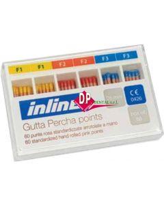 Coni  - Punte di GUTTA INLINE  Color Coded 60pz   F1/F3