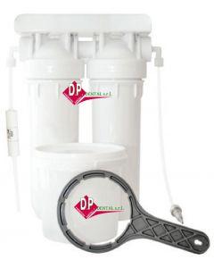 Demineralizzatore di acqua doppio  con resine a letto misto (anionica cationica)