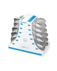 Portaimpronte   asa dental inox forati kit  12pz S2801- 12