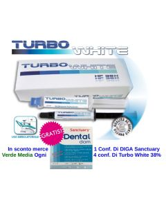 Sbiancamento Whitening TURBO WHITE PROFESSIONAL 38% BY DENTAL ACTEON  Kit 2 Siringhe